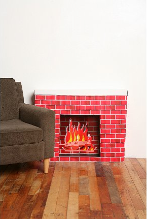 Cardboard-fireplace