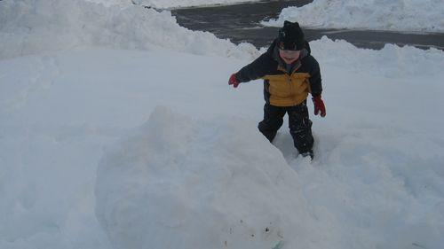 Luke-smashing-the-snowman