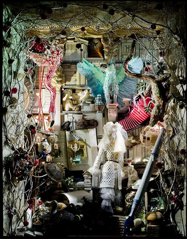 Crooked House Alice In Wonderland Christmas Windows At