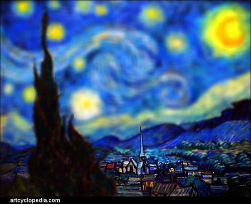 Tilt-shift-van-gogh-starry-night-detail