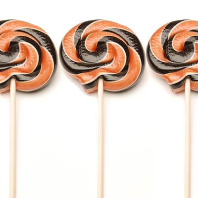 Black-and-orange-lollipops