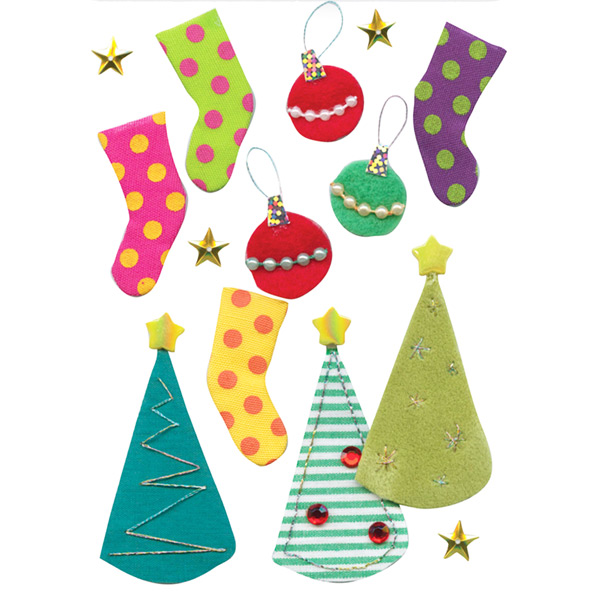Striped-and-spotted-christmas-stickers