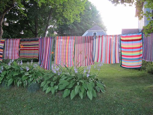 Striped-blankets-on-clothesline-5