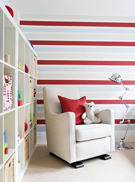 Striped-bedroom-for-children
