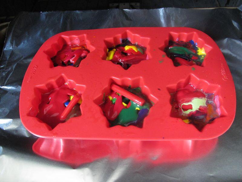 Half-melted-crayon-ornaments