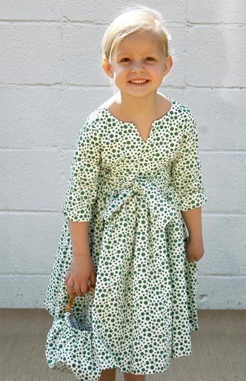 Green-dots-dress