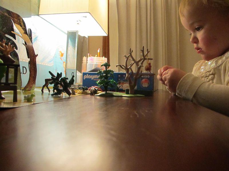 Sylvie-playing-with-playmobil-advent-calendar