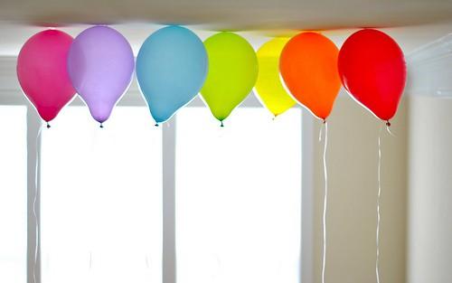 Rainbow-balloons