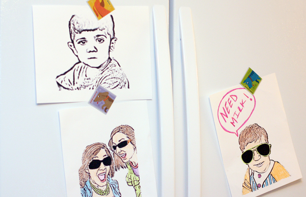 paper and felt: Make Colouring Books From Family Photos
