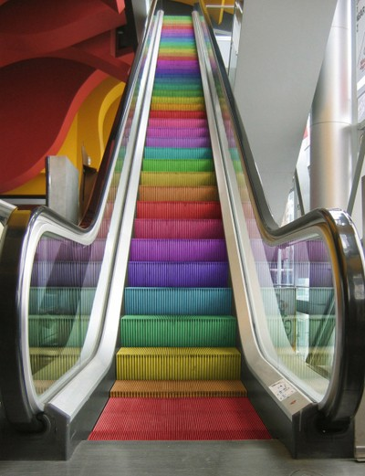 Rainbow-escalator