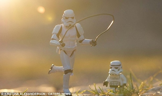 Stormtrooper-dad-and-son-skipping