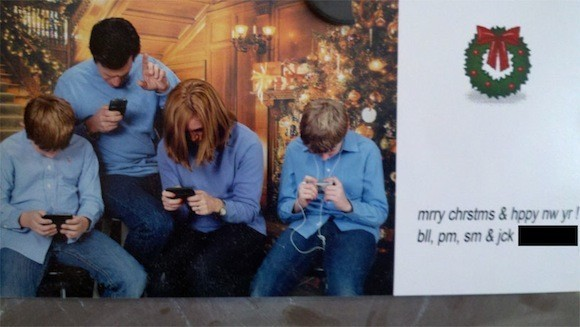 Texting-christmas-card