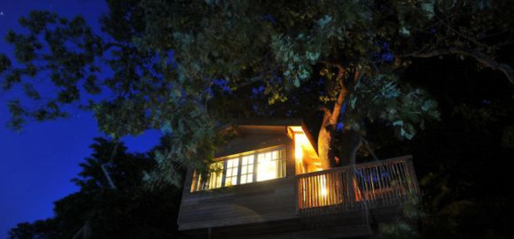 Glamping-treehouse