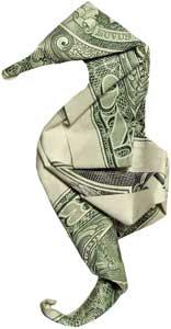Seahorse-origami-dollar