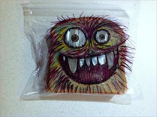 Sandwich-bag-monster